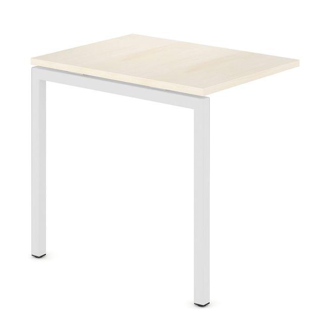 Anbau-Schreibtisch NOVA U 600 x 800 mm Ahorn – Bild 2