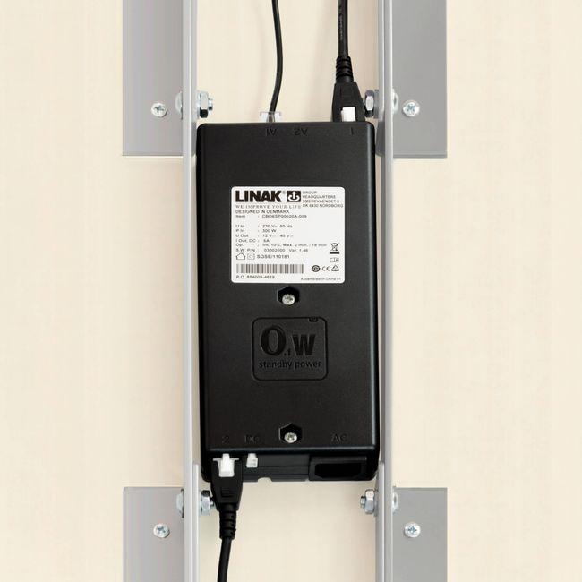 Motor Schreibtisch elektrisch höhenverstellbar EASY 1.800 x 800 mm Ahorn – Bild 10