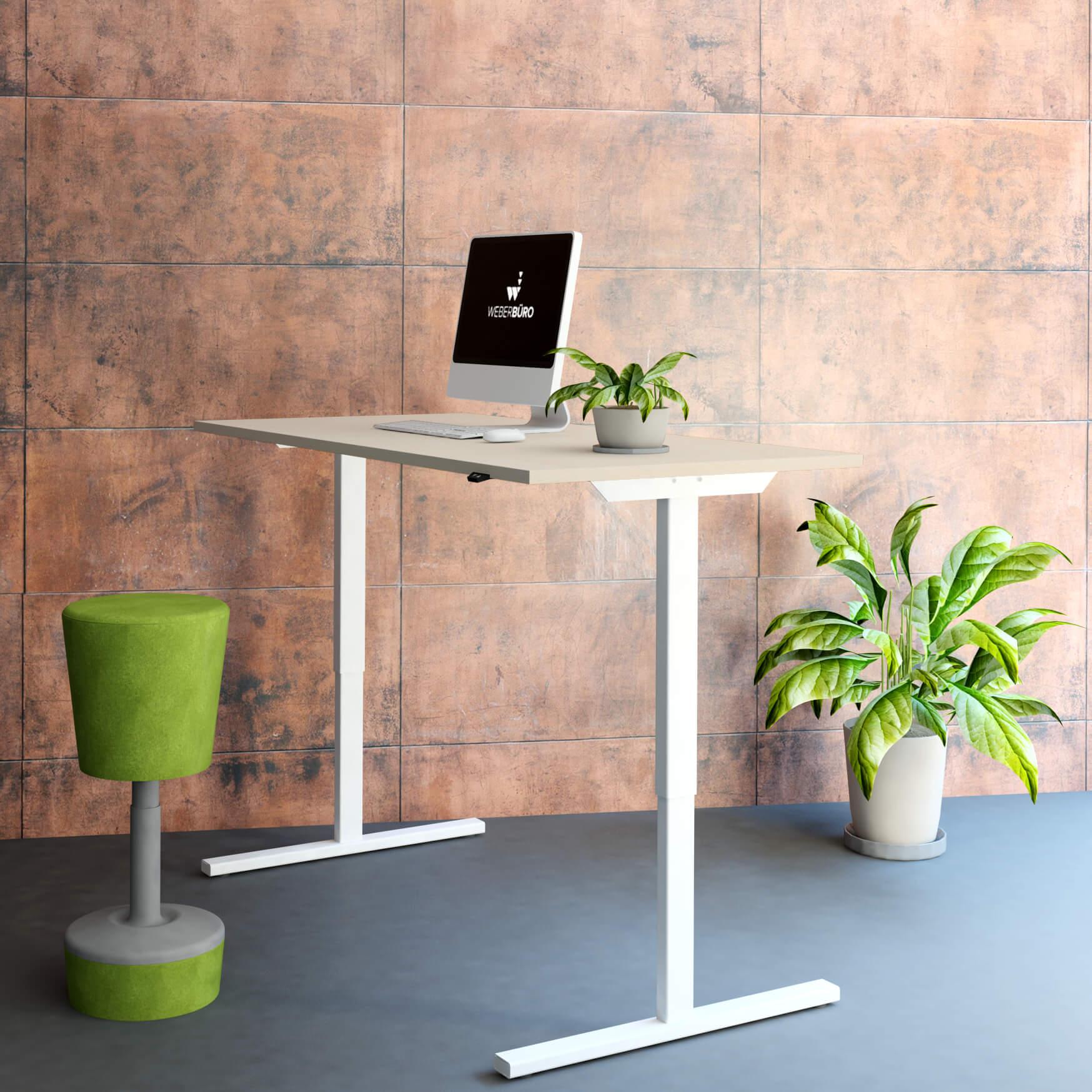 PROFI elektrisch höhenverstellbar Schreibtisch EASY 160x80cm Motortisch LINAK