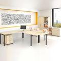 Komplettbüro NOVA Frankfurt Doppelarbeitsplatz Ahorn