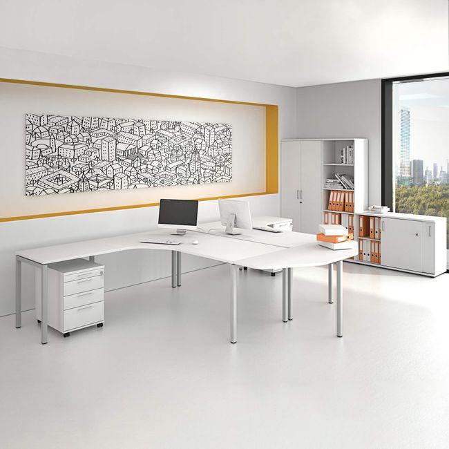 NOVA Frankfurt - Komplettbüro | Gruppenarbeitsplatz, Weiß