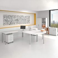 Komplettbüro NOVA Frankfurt Doppelarbeitsplatz Weiß