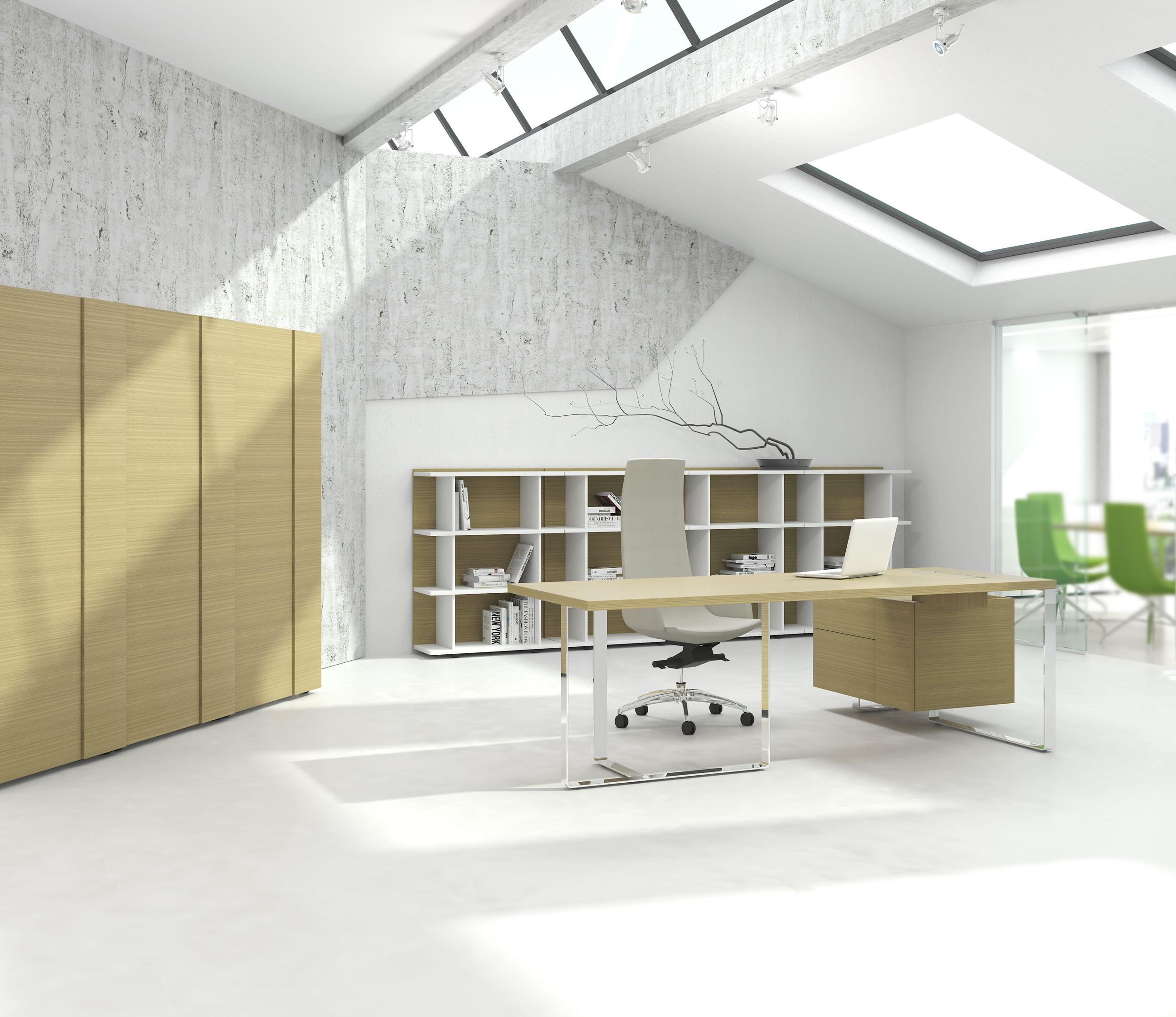 Chefbüro PLANA Maximus Eiche Büromöbel-Set Chefbüros