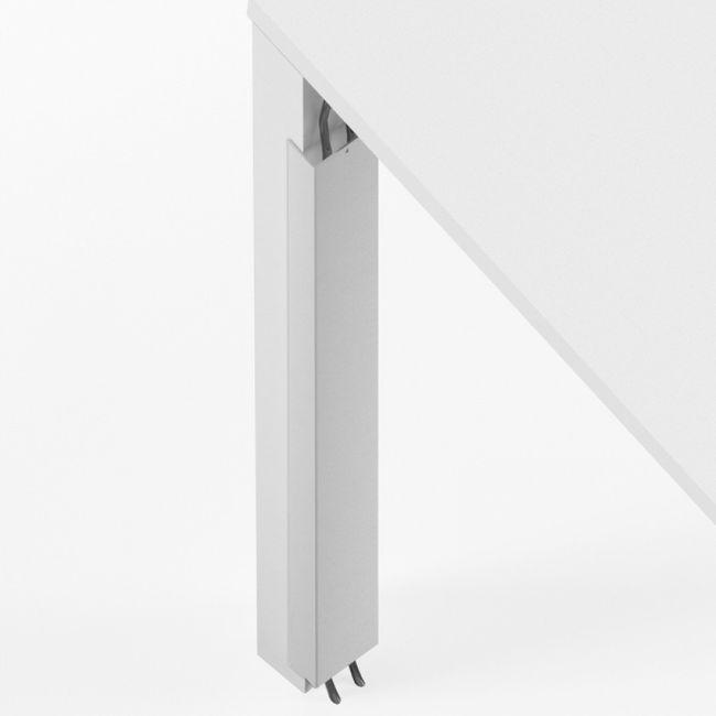 Kabelführung, Kabelwanne vertikal magnetisch 600 x 43 mm UNI