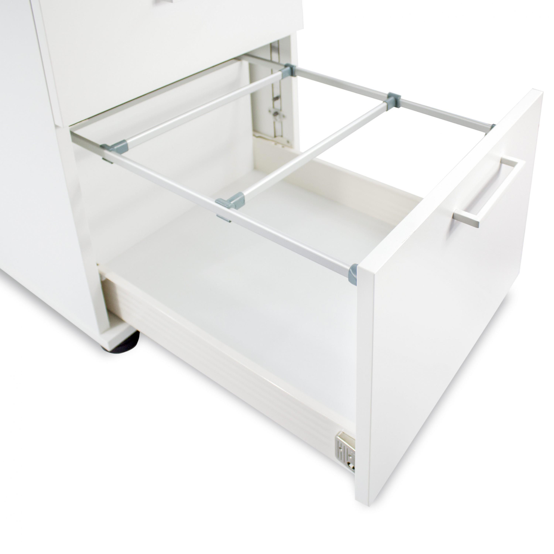 OPTIMA Rollcontainer m. Hängeregister 60cm tief Ahorn Rollschrank Büro Container
