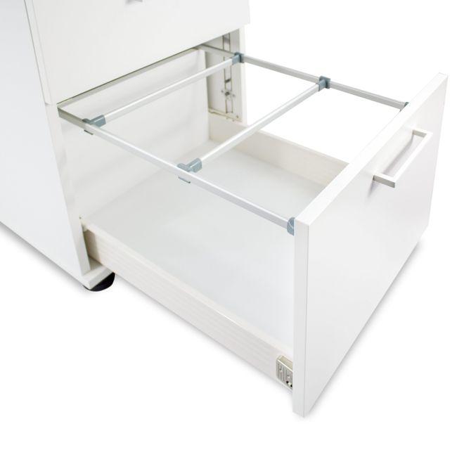 OPTIMA Rollcontainer | Hängeregister, 600 mm tief, Ahorn