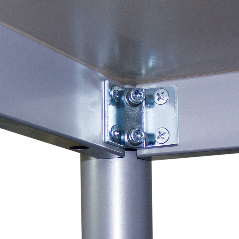 OPTIMA Besprechungstisch Lichtgrau 160x80cm 4-6 Pers. Konferenztisch Meetingtisch
