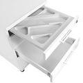 OPTIMA Rollcontainer   3 Schubladen + 1 Kleinteilefach, 600 mm tief, Weiß