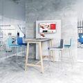 Barhocker MOON gepolsterte Sitzfläche