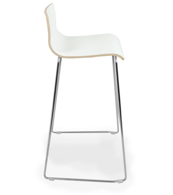 Barhocker MOON Sitzfläche aus Holz – Bild 4
