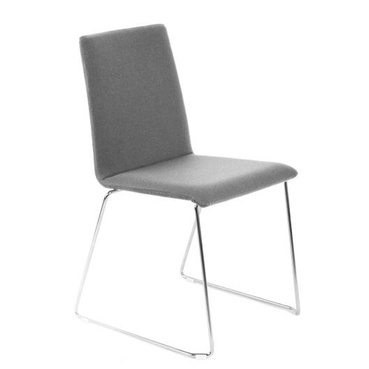 Besucherstuhl MOON gepolsteter Sitzfläche Kufengestell – Bild 10