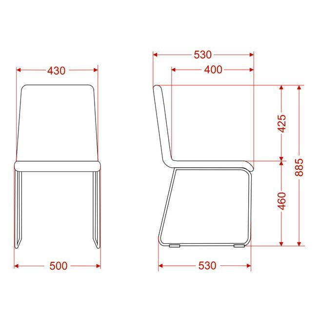 Besucherstuhl MOON gepolsteter Sitzfläche Kufengestell – Bild 12