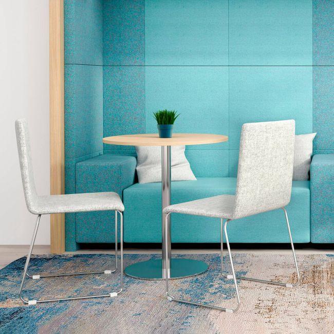 Besucherstuhl MOON gepolsteter Sitzfläche Kufengestell – Bild 3