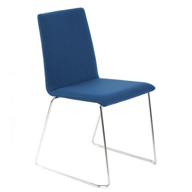 Besucherstuhl MOON gepolsteter Sitzfläche Kufengestell – Bild 1