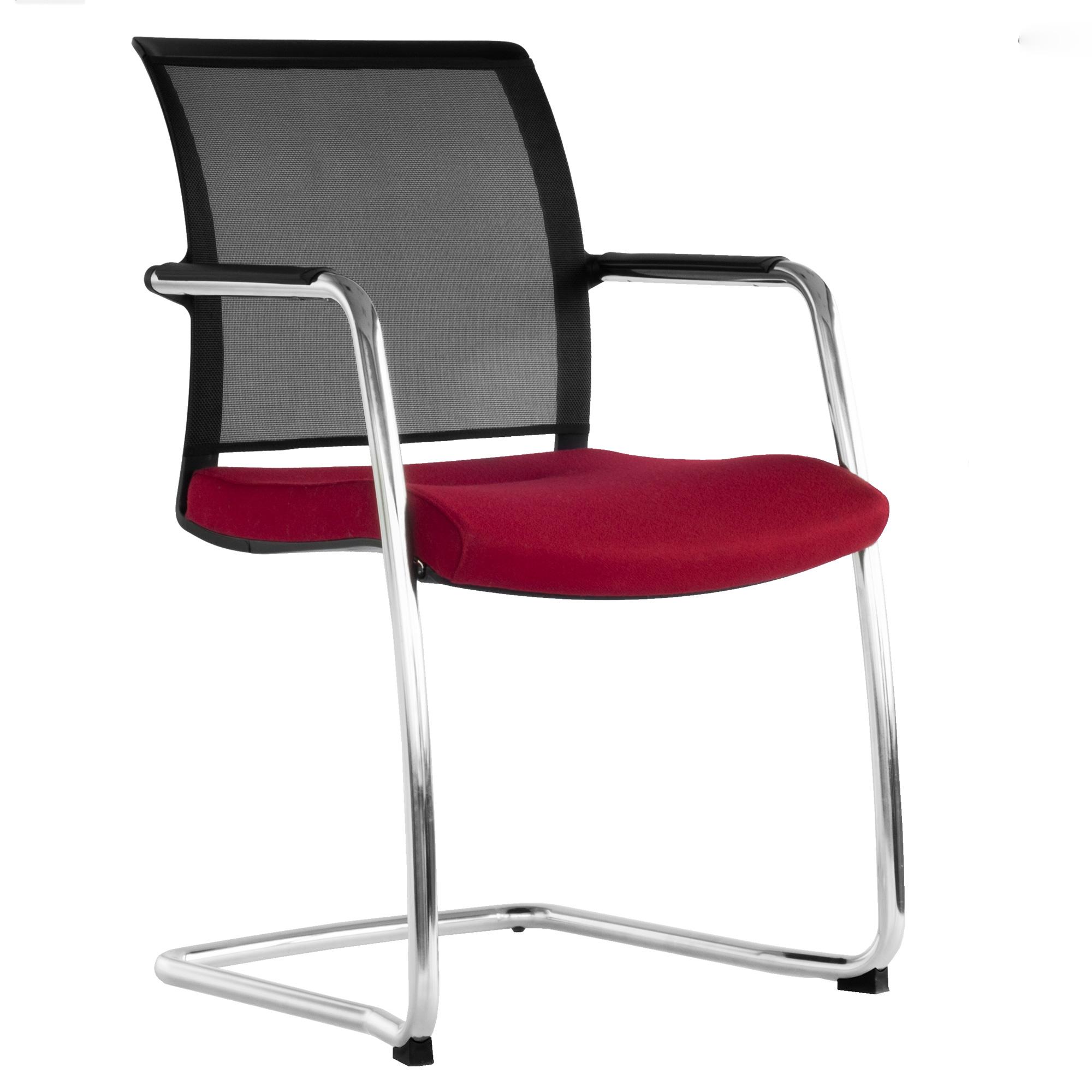Freischwinger Diva Gepolsterter Sitzfläche Sitzmöbel Besucherstühle