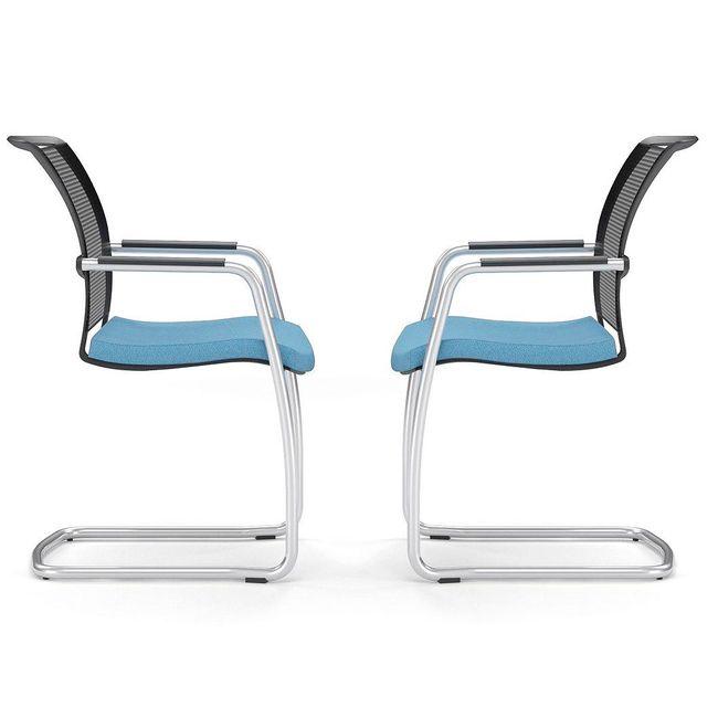 DIVA Freischwinger | Gepolsterte Sitzfläche, Bezugsstoffe BERTA / LUCIA / VELITO / SYNERGY
