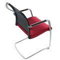 Freischwinger DIVA gepolsterter Sitzfläche