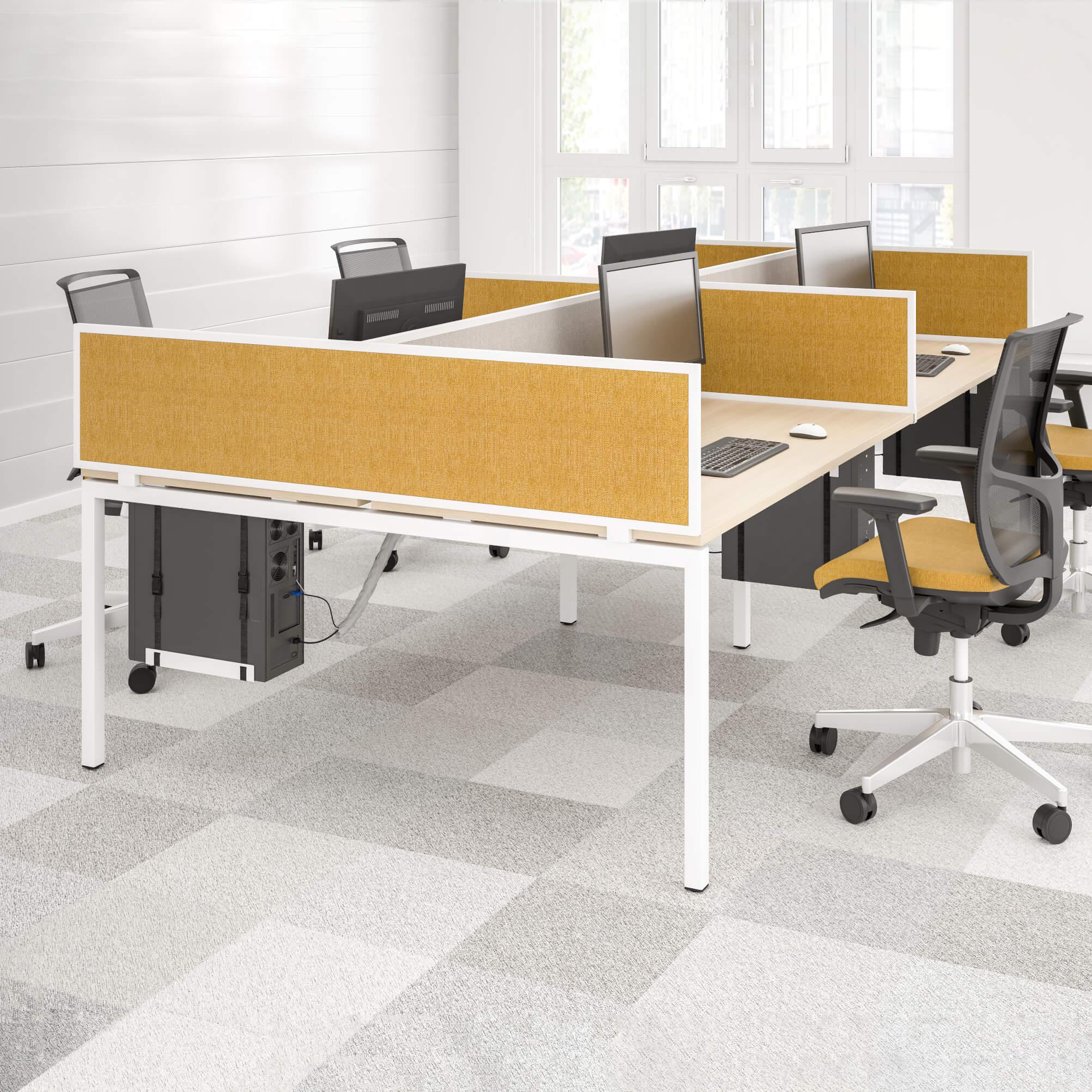 NOVA 2er Gruppenarbeitsplatz Ahorn Team Bench Schreibtisch Doppel-Arbeitsplatz