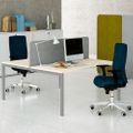 2er Team-Schreibtisch NOVA U 1.600 x 1.640 mm Ahorn