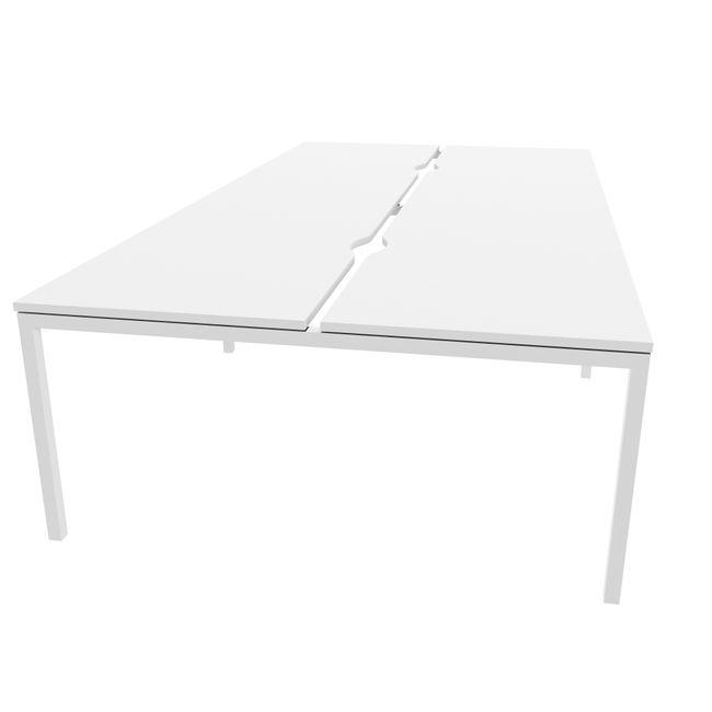4er Team-Schreibtisch NOVA U 3.200 x 1.640 mm Ahorn – Bild 7