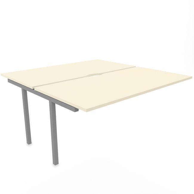 NOVA U 2er Erweiterung für Team-Schreibtisch 1.600 x 1.640 mm in Ahorn