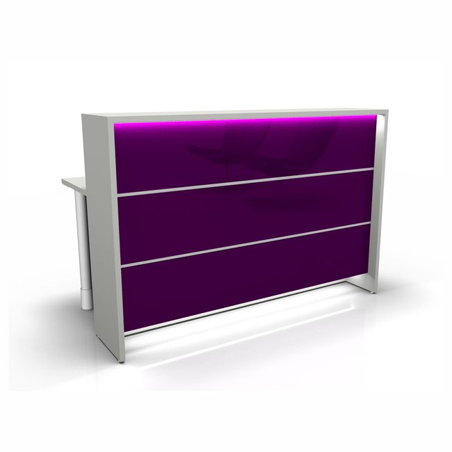 NOVUM Empfangstheke - Inklusive Montageservice | LED-Beleuchtung, Größe und Farbe wählbar