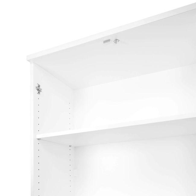 UNI Schrankwand   5 OH, 2400 x 1897 mm, Weiß