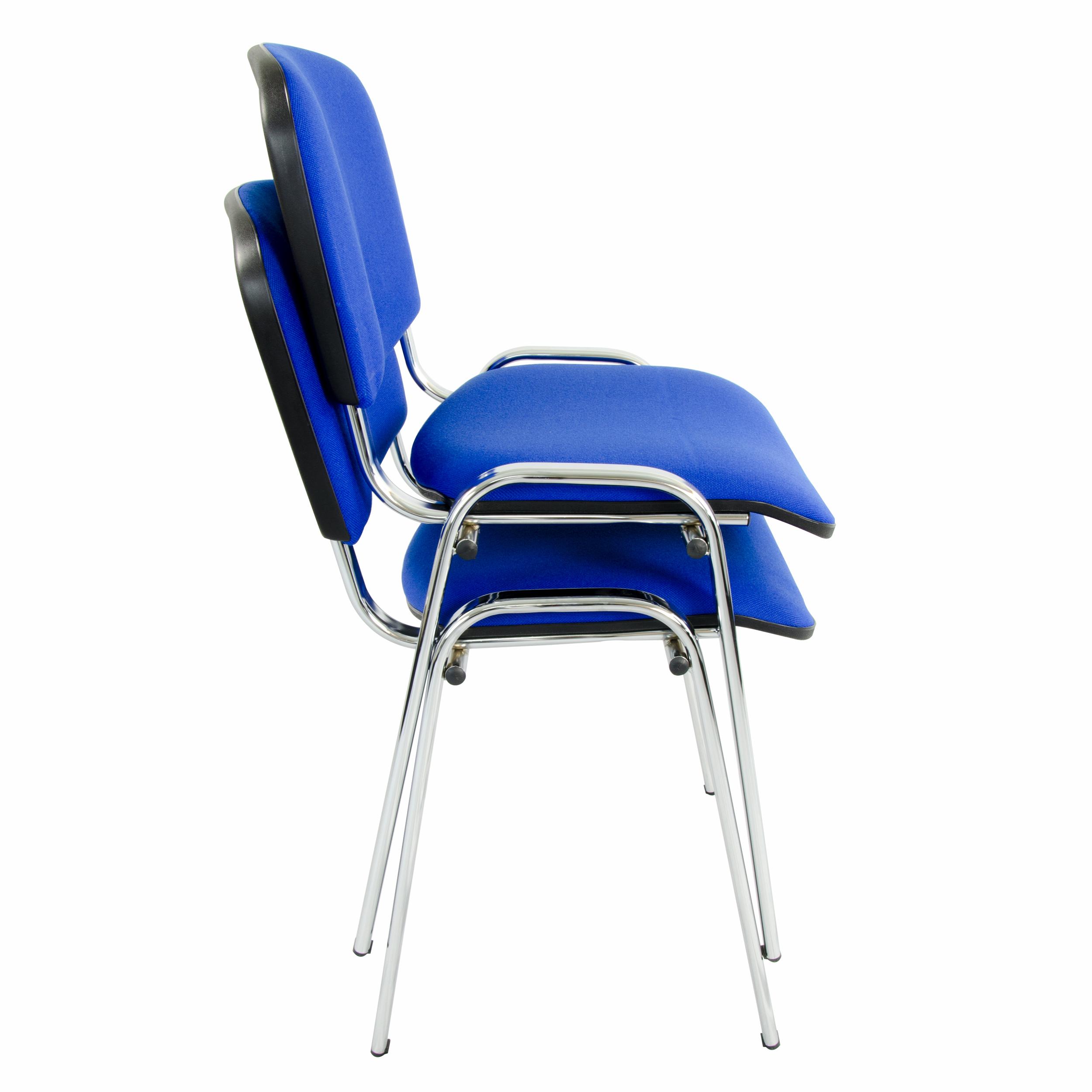 LEO Besucherstuhl blau Stapelbar Konferenzstuhl Seminarstuhl Stuhl Stapelstuhl