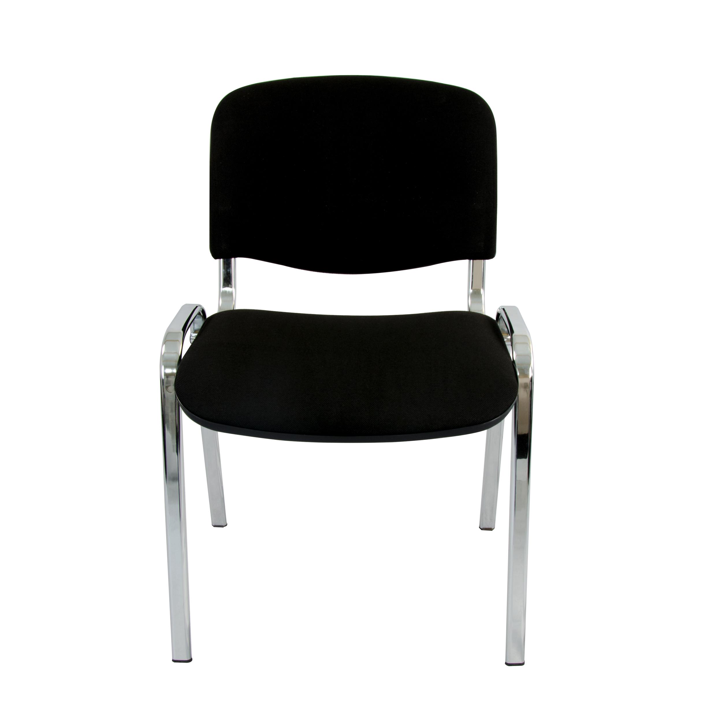 LEO Besucherstuhl schwarz Stapelbar Konferenzstuhl Seminarstuhl Stapelstuhl