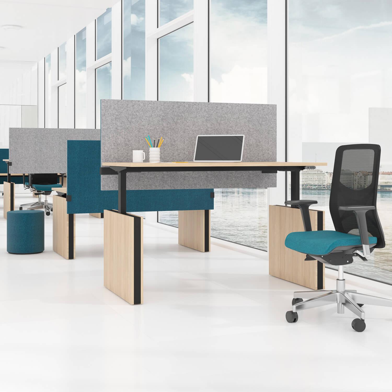 Motor Schreibtisch, Team-Schreibtisch elektrisch höhenverstellbar ergonomisch MOTION