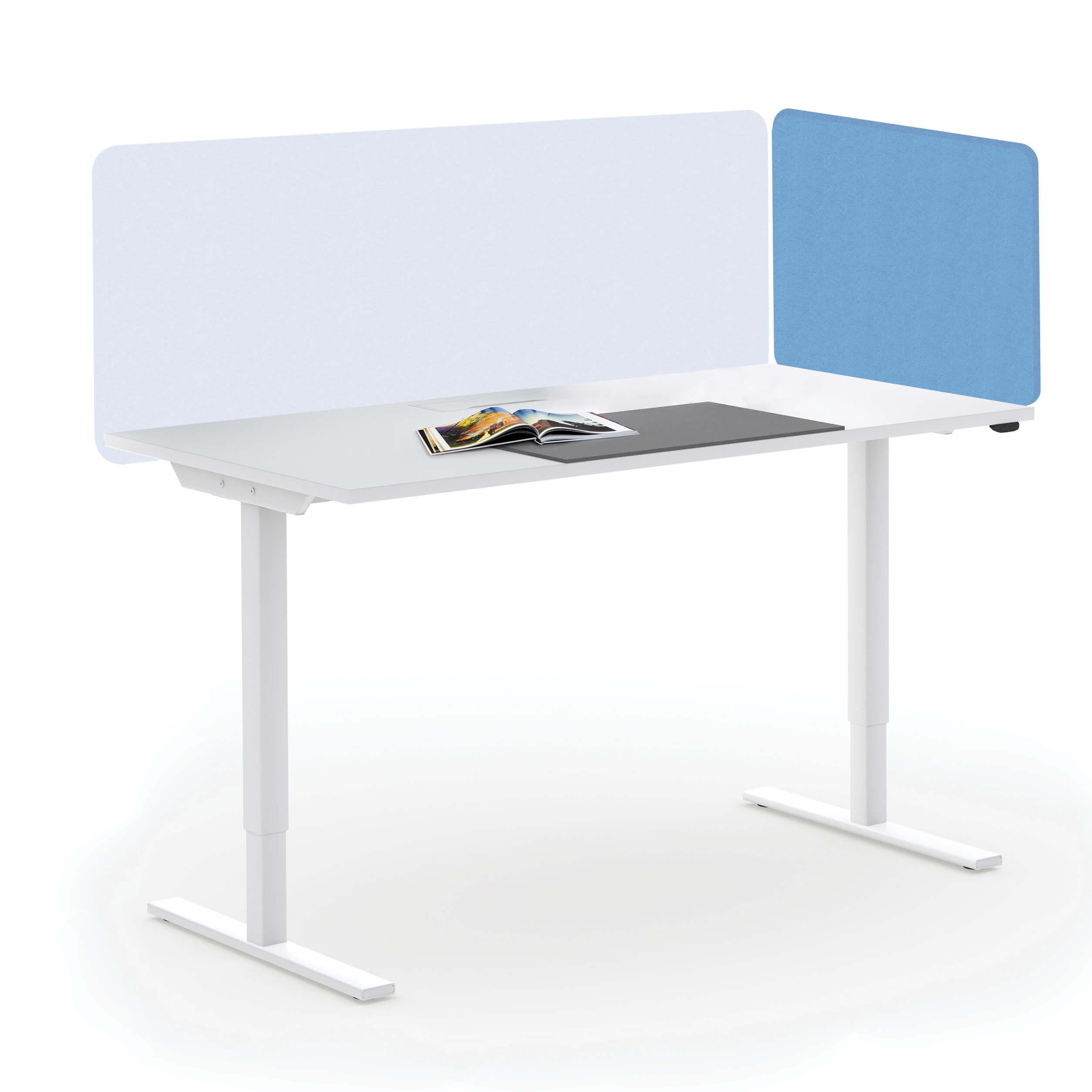 Akustik-Lösung Tischtrennwand TOP als Seitenblende Sichtschutz Lärmschutz Schallabsorbierend Raumtrenner