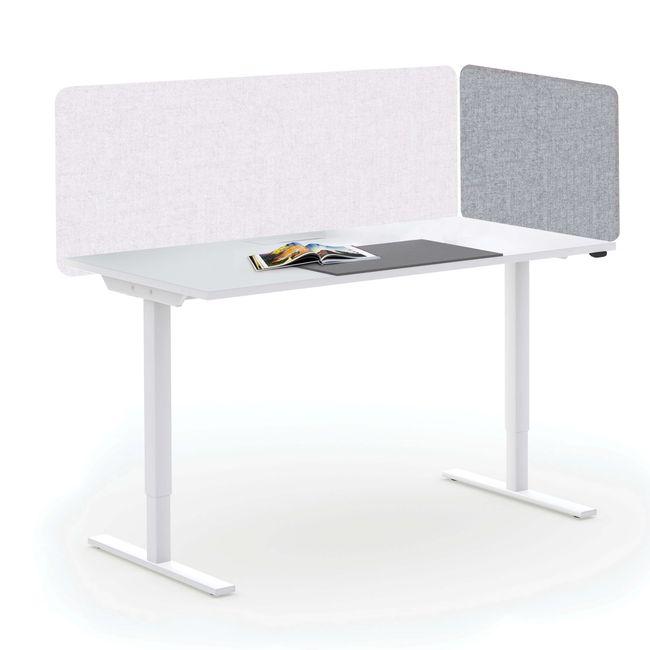 Akustik Tischtrennwand TOP Seitenblende 595 mm hoch VELITO | SYNERGY | LUCIA – Bild 23