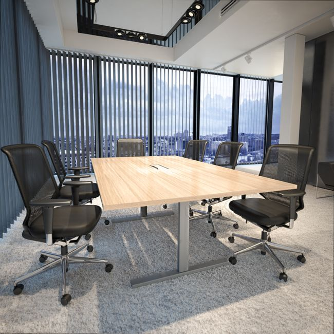 Konferenztisch T-EASY 2.000 x 1.200 mm Elektrifizierung 8-10 Personen  – Bild 1