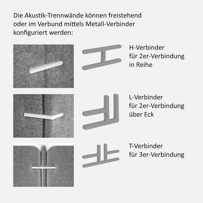 FREE STANDING Trennwandverbinder | T (2er Set)