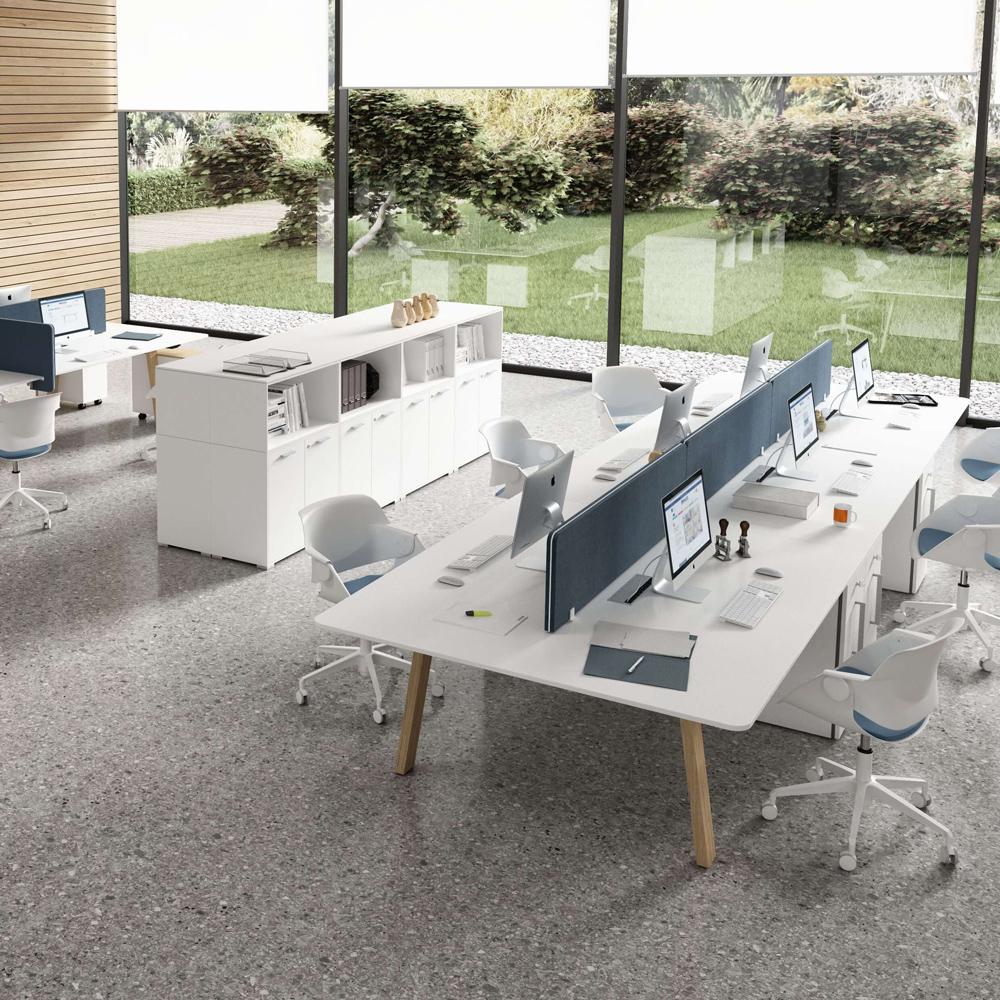 2er Team-Schreibtisch Gruppenarbeitsplatz Take Off Country Größe & Farbe wählbar