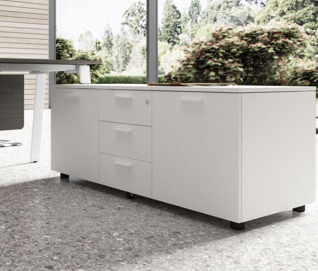 Bralco - Take Off Evo Schreibtisch mit Sideboard   Größe und Farbe wählbar