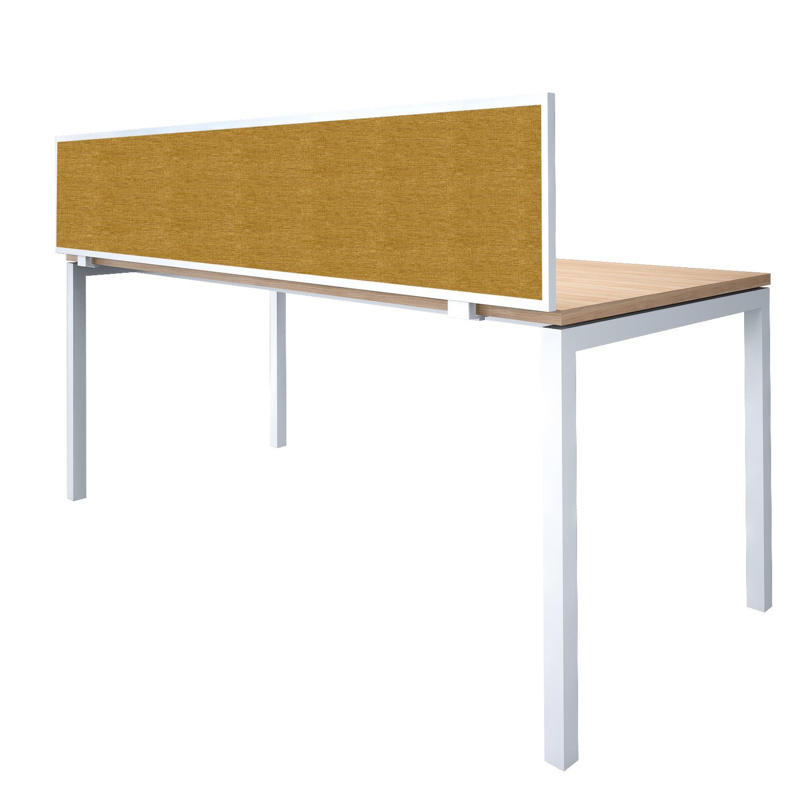Tisch-Trennwand mit Metallrahmen Sichtschutz Raumteiler UNI