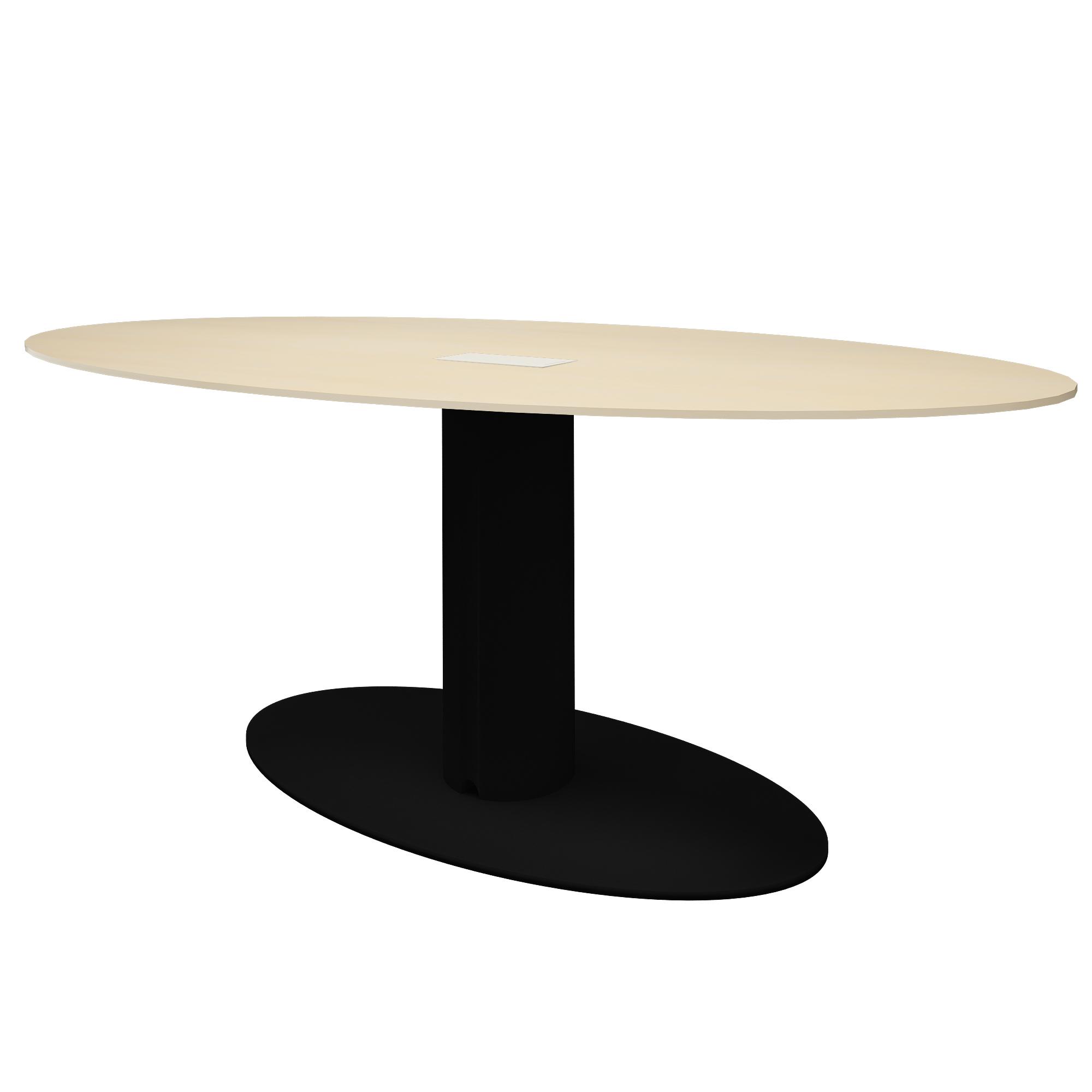 Besprechungstisch mit Elektirfizierung Esstisch Küchentisch oval Bralco - Take Off Evo