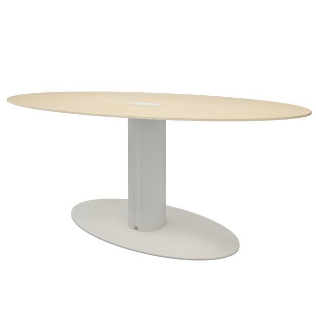 Bralco - Take Off Evo Besprechungstisch   Elektrifiziert, Oval, 2200 x 1240 mm, Farbe wählbar