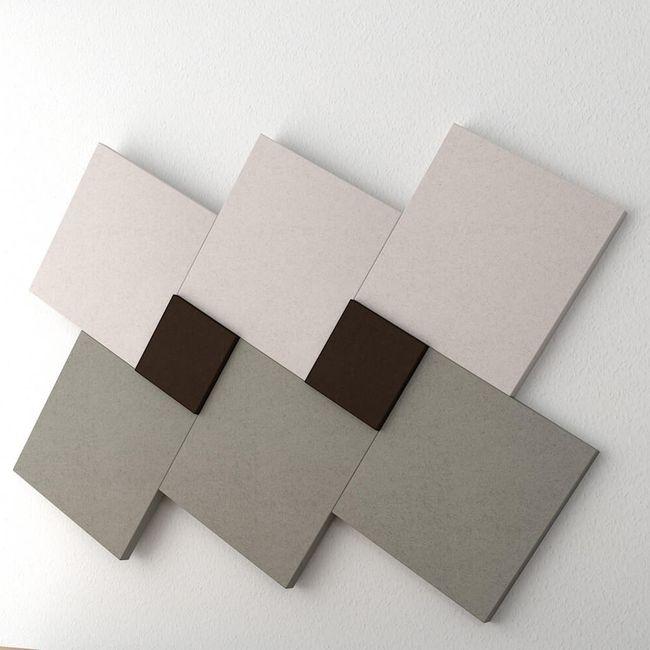 MODUS Akustik-Wandpaneel   Wandverkleidung, Komplettsystem, Wollbezug VELITO - Beige / Braun