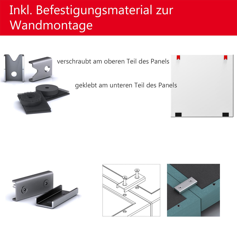 Akustik Wandverkleidung MODUS Komplettsystem Akustikplatten Wandpaneele Filz