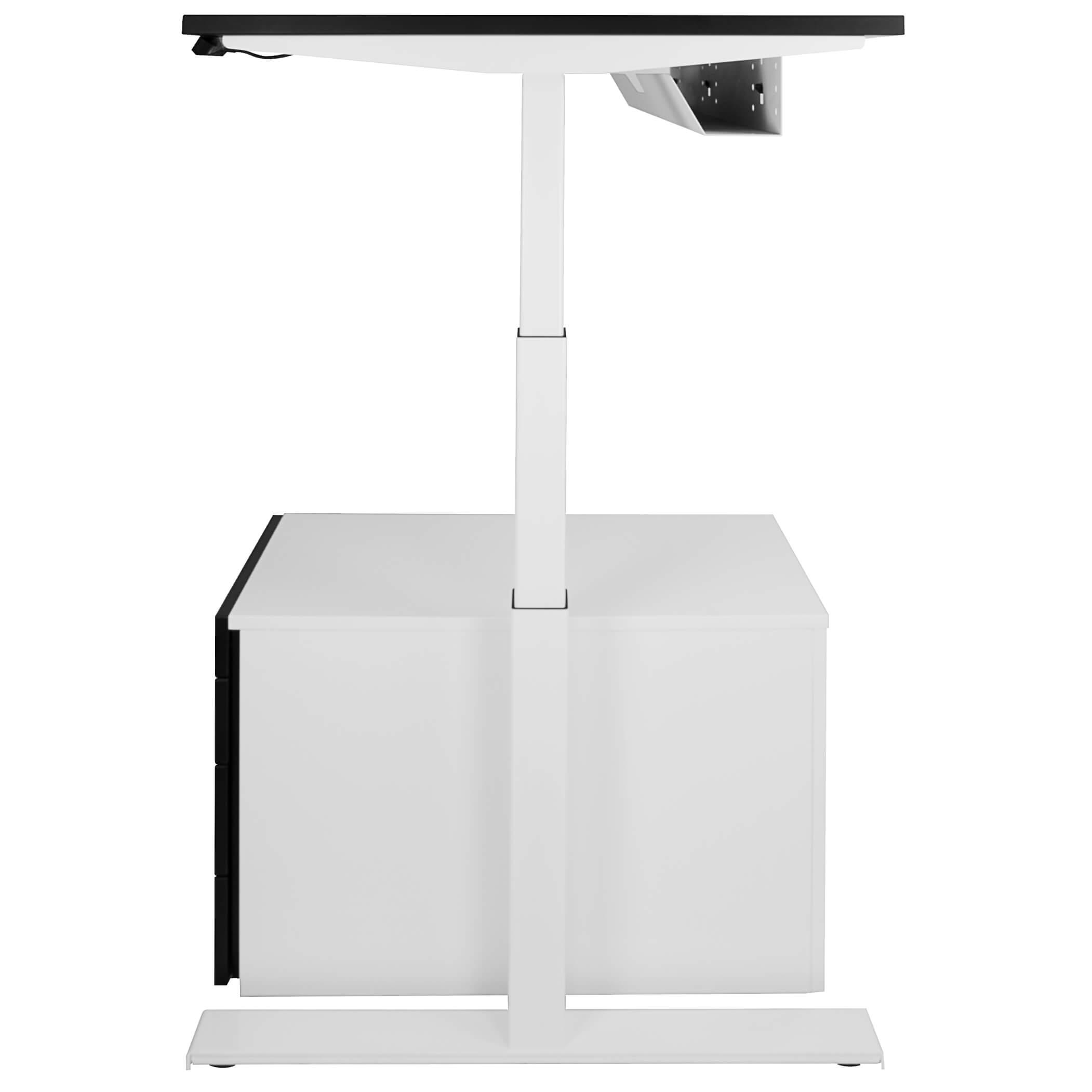 Elektrisch höhenverstellbar Schreibtisch eModel 80 cm tief in vielen Farben Motortisch motorisch höhenverstellbar