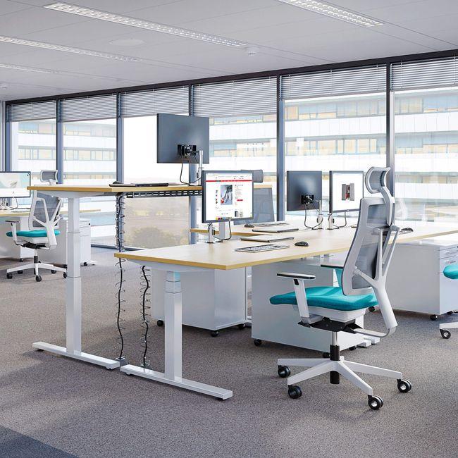 Schreibtisch elektrisch höhenverstellbar eModel 800 mm tief – Bild 2