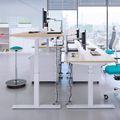 Schreibtisch elektrisch höhenverstellbar eModel 1000 mm tief