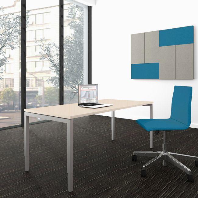 Schreibtisch NOVA UH 1.600 x 800 mm Ahorn manuell höhenverstellbar  – Bild 1