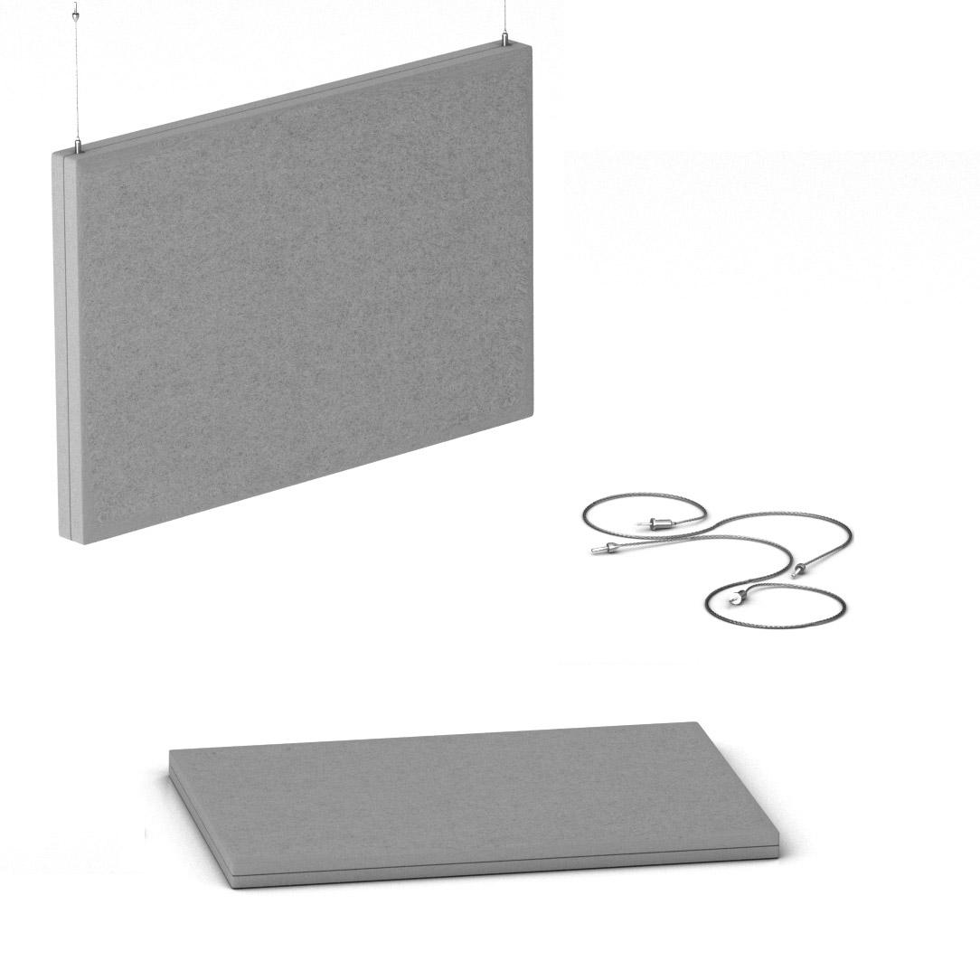 Akustik Deckenpaneel MODUS vertikal Komplettsystem Akustikplatten Paneel Filz