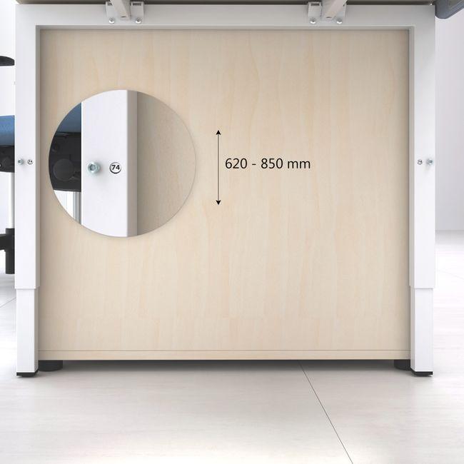 Schreibtisch NOVA UH 1.600 x 800 mm Weiß manuell höhenverstellbar  – Bild 6