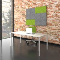 Schreibtisch NOVA UH 1.600 x 800 mm Weiß manuell höhenverstellbar