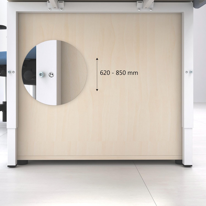 NOVA UH Schreibtisch manuell höhenverstellbar 180x80cm Ahorn Bürotisch Computertisch Büro