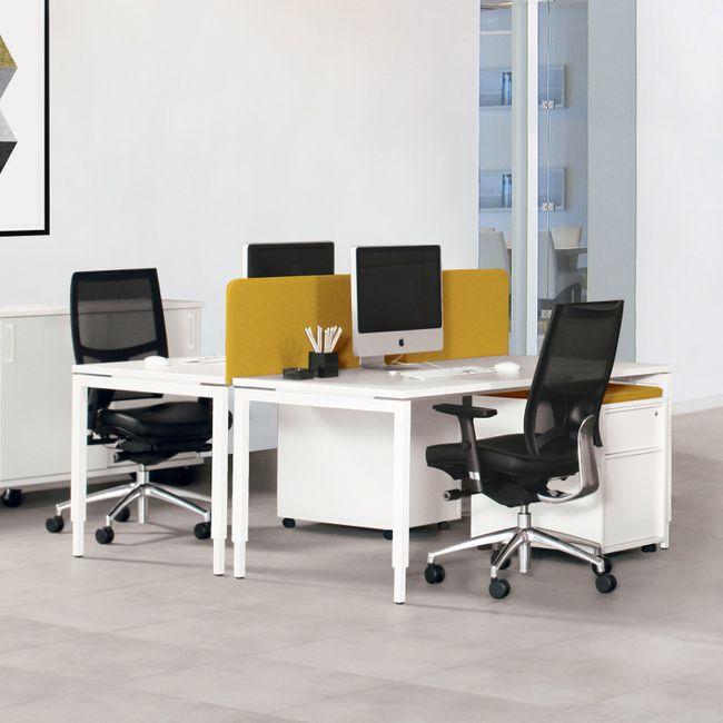 NOVA UH Schreibtisch | Manuell höhenverstellbar, 1800 x 800 mm, Weiß